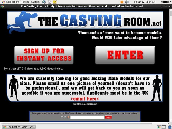 Account On The Casting Room