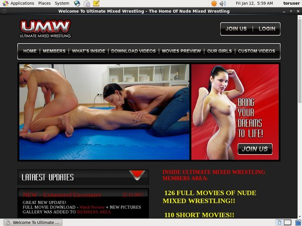 Ultimate Mixed Wrestling Dvd